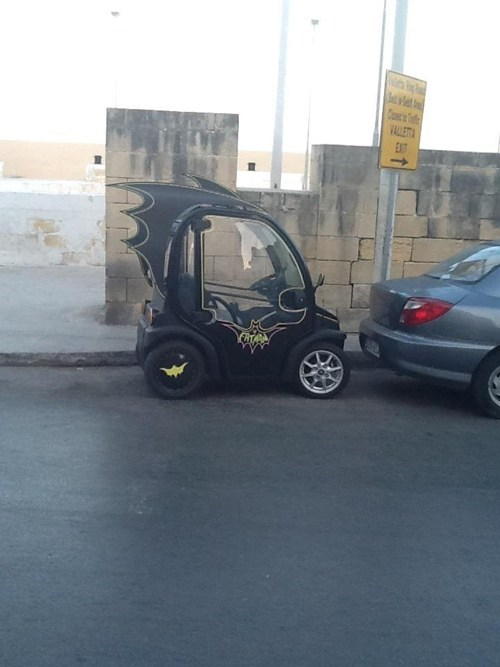 europe TDKR batman the dark knight rises batmobile smartcar
