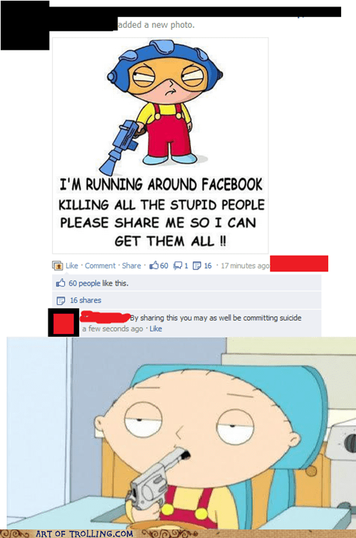 facebook,stupid people,suicide