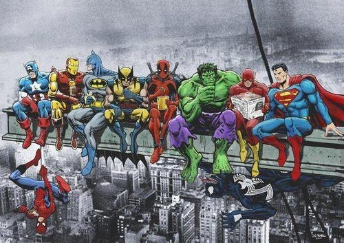 classic photo,DC,lunch,marvel,recreation