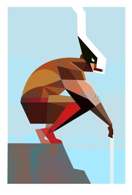art design geometric wolverine - 6621750016