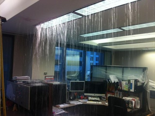 ceiling leak leak waterfall zen waterfall