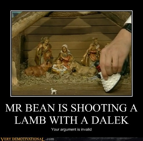dalek,fun times,lamb,mr-bean