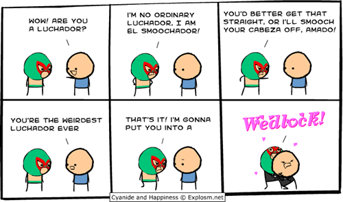 cyanide and happiness,luchador,wedlock,wrestling