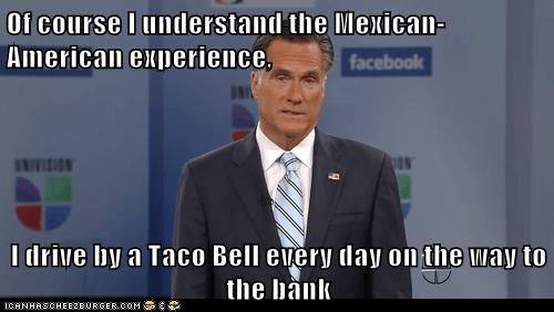 Mexican-American,Mitt Romney,taco bell,understanding,Univision