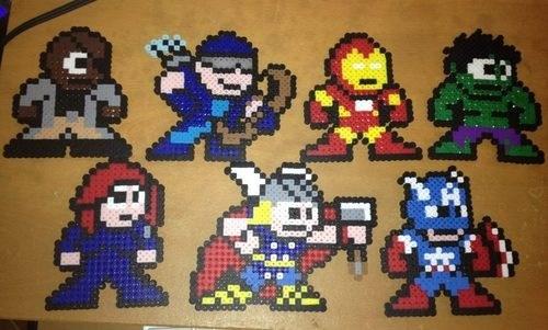 art,avengers,beads,cute