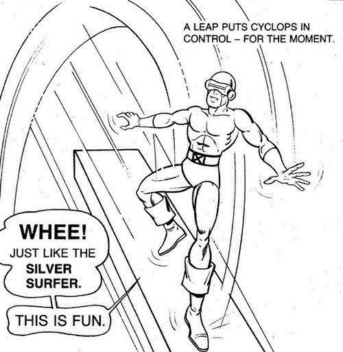 coloring book,cyclops,marvel,silver surfer,wtf