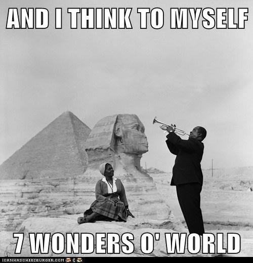 louie armstrong egypt Satchmo pyramids sphinx - 6622519552