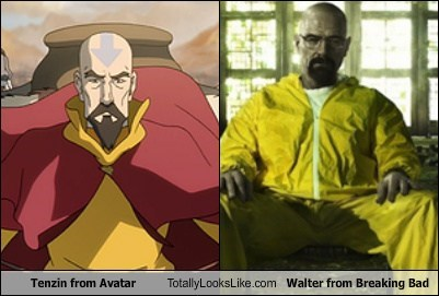 breaking bad tenzin walter white TLL amc TV bryan cranston Avatar funny