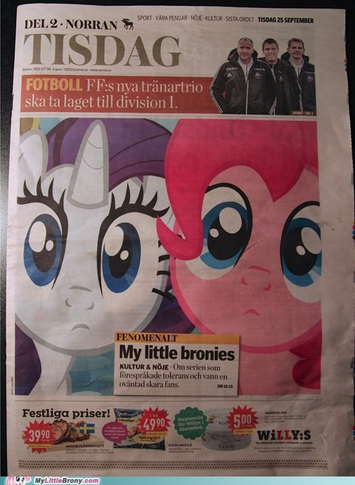 awesome,IRL,my little bronies,newspaper,Sweden