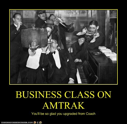 BUSINESS CLASS ON AMTRAK You'll be so glad you upgraded from Coach