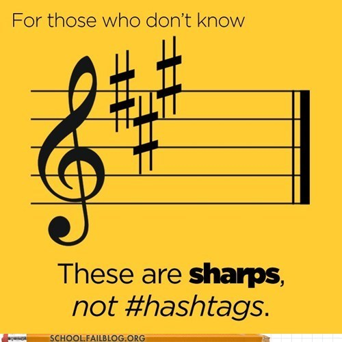Music hash tag sharp tweet g rated School of FAIL