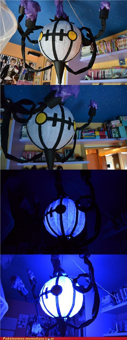 awesome,chandelure,IRL,lamp,Pokémon