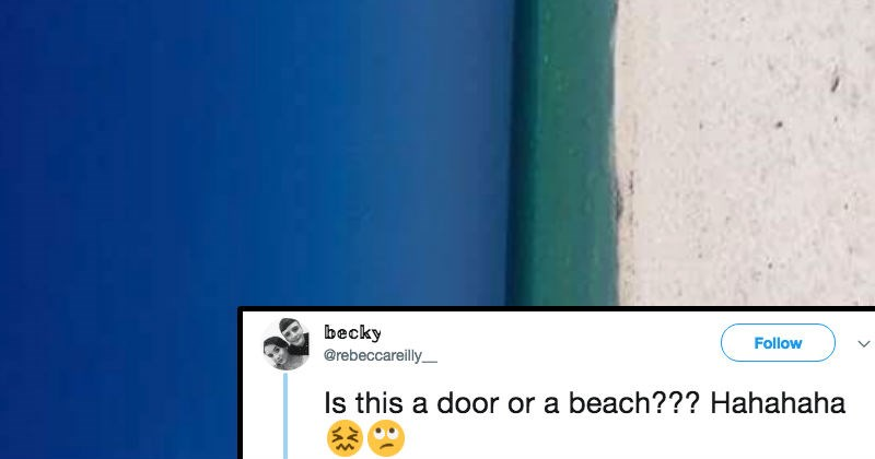 twitter beach ridiculous reaction funny - 6623493