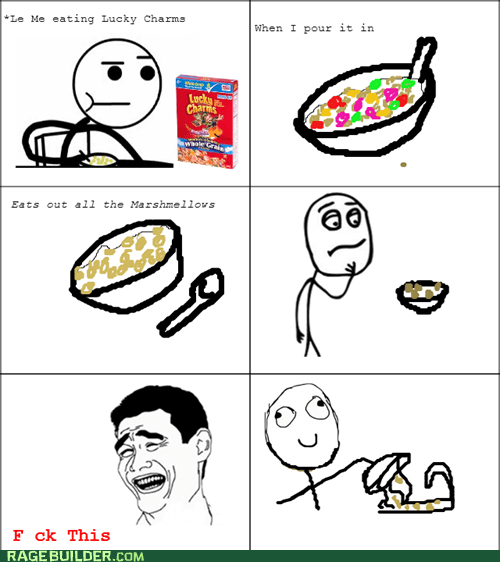 f that lucky charms cereal marshmallows