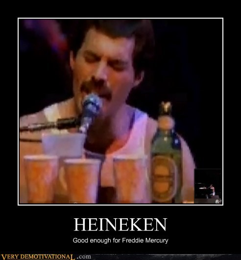 beer freddie mercury Heineken