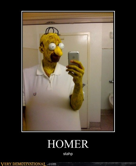 costume creepy homer simpsons stahp