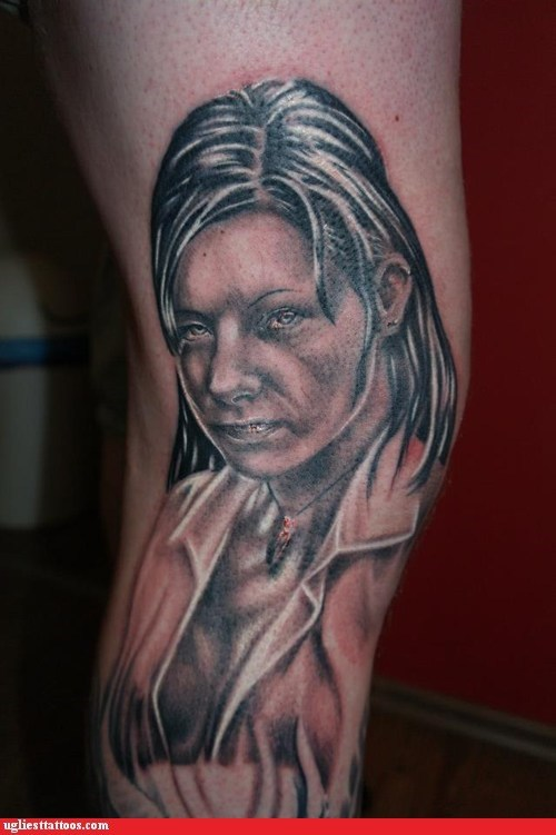 leg tattoos,wives,portrait tattoos