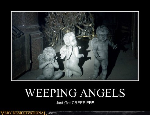 weeping angels creepy doctor who Babies categoryimage