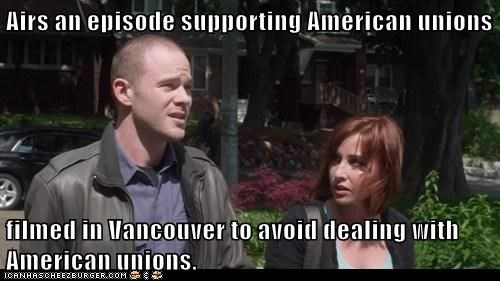 warehouse 13 episode unions Canada scumbag meme