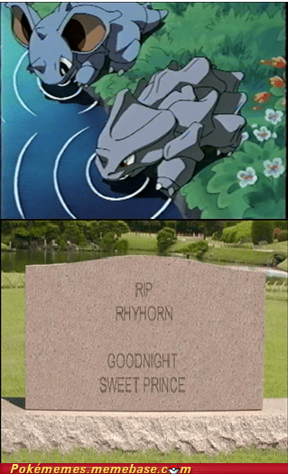 anime dead rhyhorn Sad water