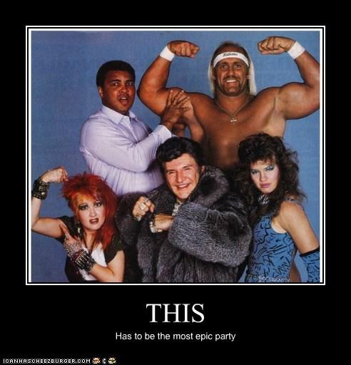 funny actor celeb demotivational cyndi lauper Hulk Hogan liberace Muhammad Ali - 6624965376