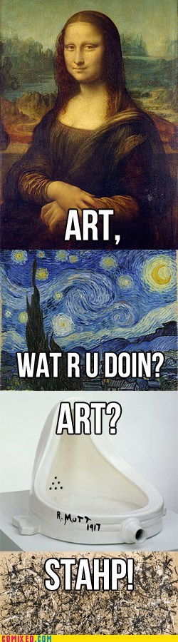 art,evolution,staph,wat r u doin