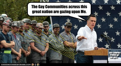 Mitt Romney gay gazing Staring butt