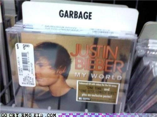dump,garbage,justin bieber,Music