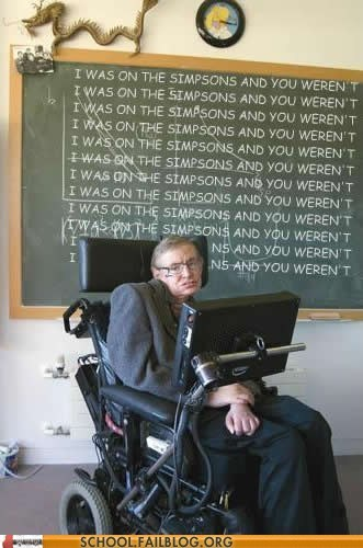 simpsons show stephen hawking - 6625619456