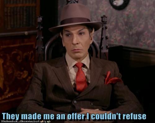 gangster Spock mob an-offer-you-cant-refuse Leonard Nimoy Star Trek - 6625666048