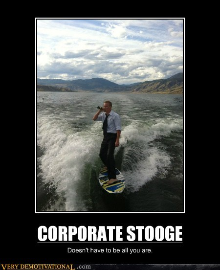 corporate stooge surfing