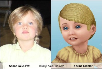 Shiloh Jolie-Pitt Totally Looks Like a Sims Toddler