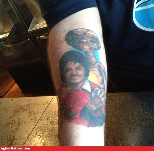 arm tattoos,E.T,michael jackson