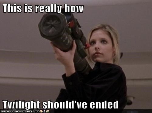 buffy summers,how it should have ended,twilight,Buffy the Vampire Slayer,Sarah Michelle Gellar,bazooka