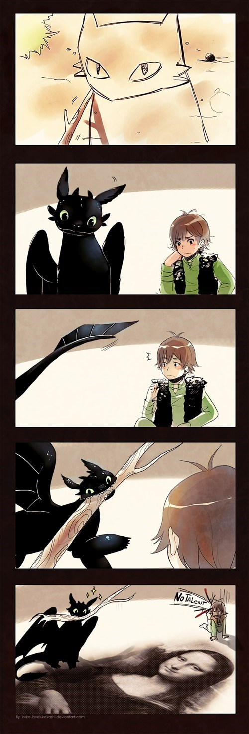 Fan Art How to train your dragon toothless - 6626550272