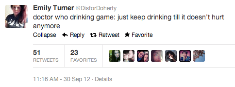 crying doctor who drinking game - 6626610176