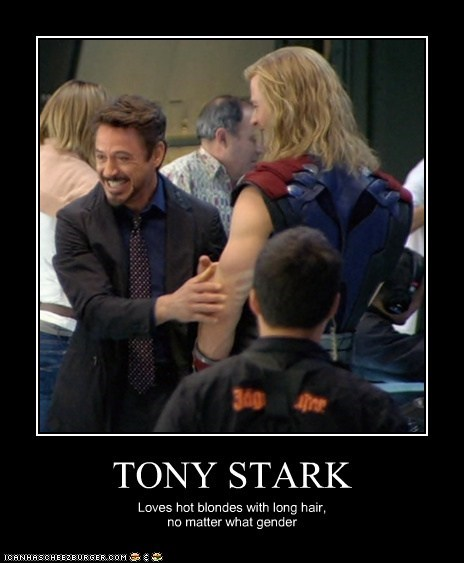 actor celeb chris hemsworth demotivational funny robert downey jr - 6626696192