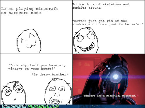 legion linux mass effect minecraft rage comic - 6626976256