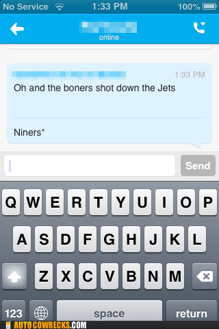 boner excited football jets niners