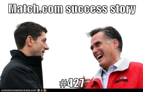 paul ryan Mitt Romney Match.com success story dating love - 6627079680