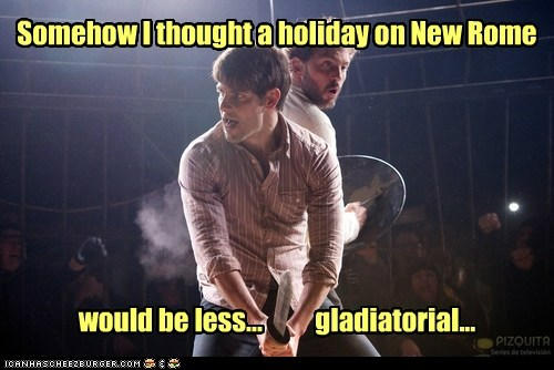 grimm,rome,Silas Weir Mitchell,Gladiator,david giuntoli,fight,holiday,nick burkhardt,monroe