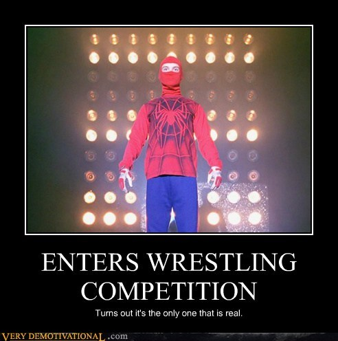 peter parker,bad luck brian,Spider-Man,wrestling