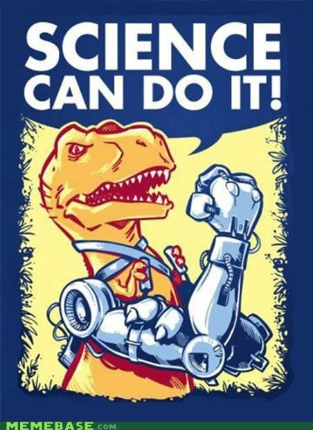 dinosaur,robotic arms,rosy the riveter,science,t rex