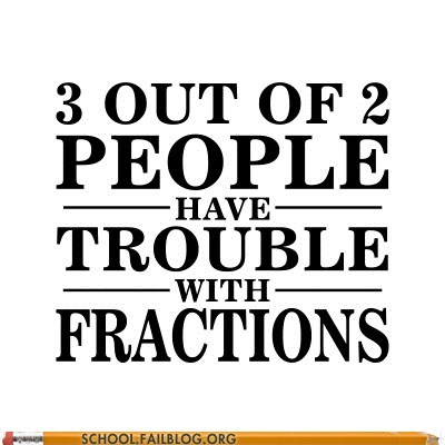 slogan fractions math