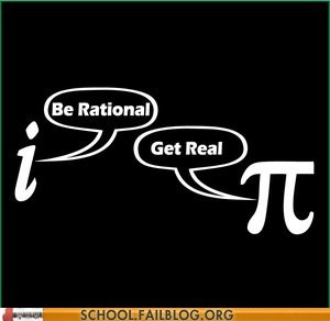 rational pi imaginary numbers math
