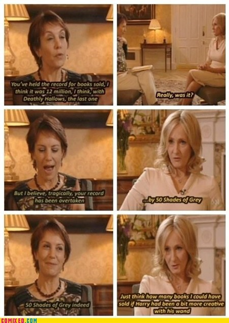 50 shades of grey fan fiction Harry Potter interview jk rowling - 6627808256