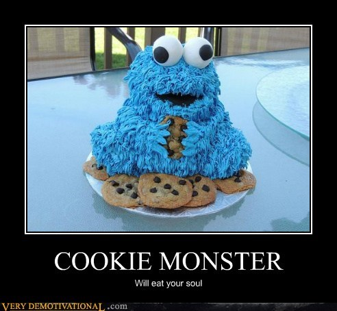 Cookie Monster soul eating cake - 6628154880