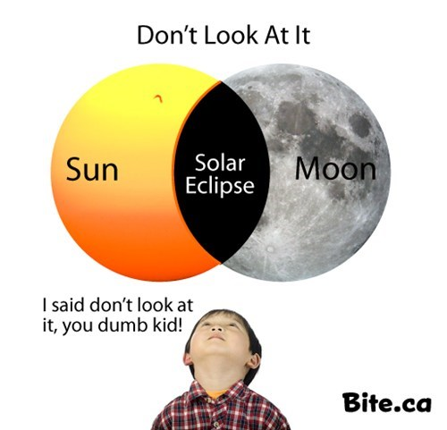 dont-look,dumb kids,moon,solar eclipse
