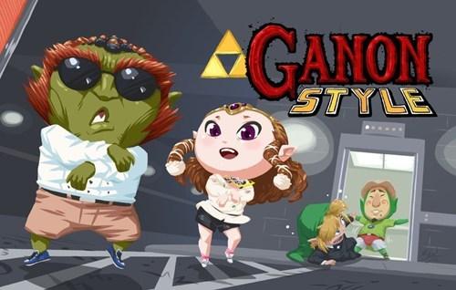 gangnam style,ganon,tingle,zelda