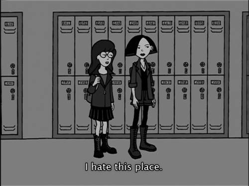 angry kids,daria,high school,i hate this place